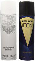Police Contemporary 200 ml & Icon Deodorant Spray 200 ml Pack Of 2