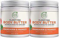 Petal Fresh Pure Refreshing Mandarin & Mango Body Butter Nourishing with Vitamin A 237ml (Pack of 2)