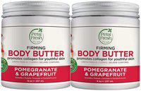 Petal Fresh Pure Firming Pomegranate & Grapefruit Body Butter Refreshing with Vitamin 237ml (Pack of 2)