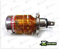 Xtreme-In White 3 Cree Led Headlight With Multi Color H4 Bulb For Hero Motocorp Ignitor R