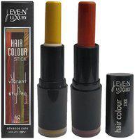 EVE-N Hair Color Stick Blonde & Burgundy 4g Pack of 2