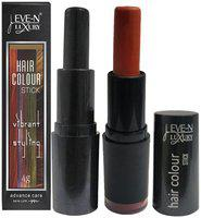 EVE-N Hair Color Stick Black & Burgundy 4g Pack of 2