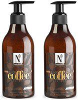 NutriGlow Natural's Raw Irish Coffee Face Wash 300 ml (Pack of 2)