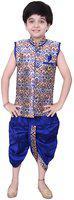 Arshia Fashions Boys Festive & Party Angarkha and Dhoti Pant(Blue Pack of 1)