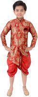 Arshia Fashions Boys Festive & Party Kurta and Dhoti Pant Set(Red Pack of 1)