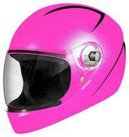 Steelbird Pink Standard Full Face Helmet ( ISI Certified ,Size: M )