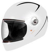 Steelbird White Standard Full Face Helmet ( ISI Certified ,Size: M )