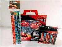 NEW Set Disney Pixar Cars 3 Stickers Kit Crayons Pencils Kids Back to School