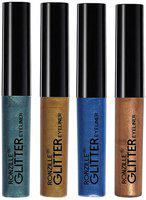 Ronzille Glitter Eye Liner Multi-Colored (4ml Each)(Pack Of 4)