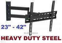 23-42 DUAL ARM LCD LED HD TV FULL MOTION WALL-MOUNT 3D 24 30 32 34 36 38 39 40