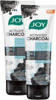 Joy Activated Charcoal Skin Purifying plus Deep Detox Face Wash -100ml(Pack of 2 )
