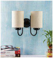 Devansh white Jute Wall Lamp
