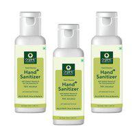 Organic Harvest Instant Anti - Bacterial Gel Hand Sanitizer & Hand Cleanser with Organic Glycerin & Tea Tree Essential Oil;70% Alcohol;Kills 99.9% Virus & Bacteria;100ml (Pack of 3)