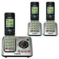 Vtech CS6629-3 DECT 6.0 3 Cordless Phones w/ Digital Answering Machine NEW