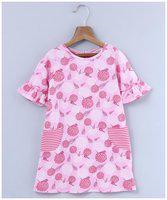 Beebay Pink Knitted 3/4th Sleeves Knee Length Princess Frock ( Pack of 1 )