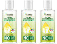 KAZIMA Hand Sanitizer (Tea Tree Hand Cleansing Gel) 70% Isopropyl Alcohol Based Instant Germ Protection;200ml (Pack of 3)
