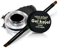 Miss Rose Black Cake Kajal Eyeliner 2 g Pack of 1