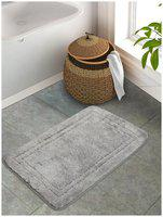 Portico New York Cotton Solid Grey 1 Large Bath Mat Portico New York
