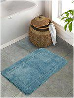 Portico New York Cotton Solid Blue 1 Large Bath Mat Portico New York