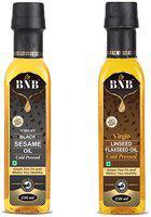 BNB Flaxseed Oil 250 ml and 250ml Black Sesame Oil ( Pack of 2 )