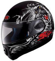 Studds NINJA 2G D2 Full Face Helmet (Matt Black & Red, 600MM)