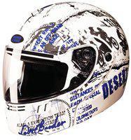 Studds NINJA 3G D5 Full Face Helmet (White & Blue, 600MM)