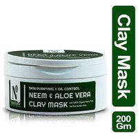 NutriGlow Advanced Organics Neem & Aloe Vera Clay Mask(200g)