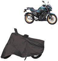 Bigwheels Premium Quality Grey Matty Two Wheeler Bike Body Cover For Yamaha Fzs 25 With Miror Pockets