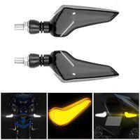 Yashinika Front Side Rear LED Indicator Light for Universal For Bike Universal For Bike (Yellow White)