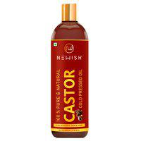 Newish Organic Cold Pressed Castor Oil for Hair Growth and Skin Care Eyebrow 200 ml