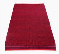 HOMECRUST 500 GSM Cotton terry Bath towel ( 1 piece , Red )