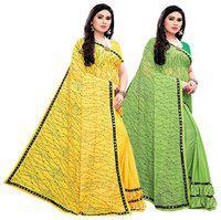 FUMVEL Lycra Multi Printed Regular Saree For Women