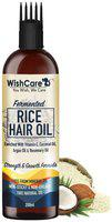 WishCare Fermented Rice Hair Oil With Deep Root Hair Applicator Increases Strength & Promotes Growth 200 ml Pack of 1