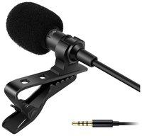 Rednix Collar Mic 3.5mm Clip-on Mini Lapel Lavalier Microphone for Android/iOS Device