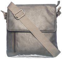 Khadim's Grey Synthetic Solid Crossbody Bag For Men