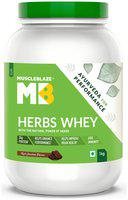 MuscleBlaze Herbs Whey, 2.2 lb/ 1 kg, Chocolate Pack of 1