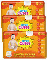 Super Cute's Wonder Pullups Pant Style Premium Diaper For Superior Absorption S 40 Pieces Each (Set of 3)