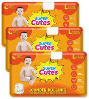 Super Cute's Wonder Pullups Pant Style Premium Diaper For Superior Absorption L 33 Pieces Each (Set of 3)