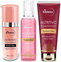 StBotanica NUTRITIVO Pomegranate Skin Care Combo   Face Wash 100ml plus Face Mist 120ml plus Serum 30ml Pack of 3