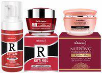 StBotanica Aging Combo   Retinol Face Wash 120ml plus Retinol Face Mask 50g plus Pomegranate Anti Aging Cream 50g Pack of 3