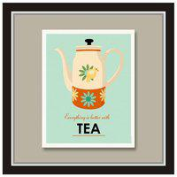 Purvani Tea Related Written Quote| Poster Unframed Rolled ker |Wall Decor