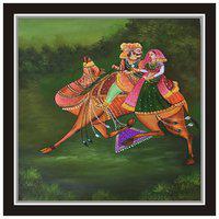 Purvani Rajasthani Cultural Art | Wall Sticker Print Paper | Wall Decor