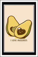 PurvaniI love avocado - Paper Poster Wall Sticker Print Decor Print