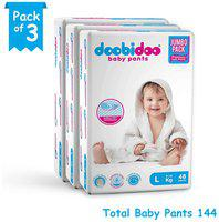 Doobidoo Baby Pants Large Size 48 Pants (Set of 3)