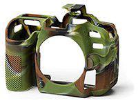 Onkliq Silicon Protective Military Color Camera Cover/Case Compatible with Nikon D7500 Camera