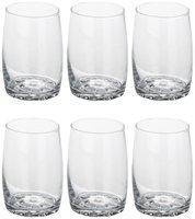 Bloom Tumbler Glass With Self Designe (Set Of 6 Glasses)