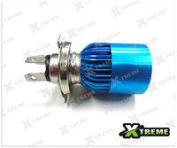 Xtreme-In White 3 Cree Led Blue Headlight H4 Hid Bulb (B) For All Bikes