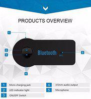 HD Wireless Car Bluetooth Receiver Adapter 3.5Mm Aux Audio Stereo Music (Black)