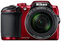 Nikon Coolpix B500 16 MP High Zoom Point & Shoot Camera (Red) plus HDMI Cable plus Carry Case plus 16GB SD Card