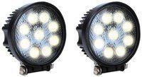 Petrox 9 LED 27 watt Round Aux Fog Light For Bullet